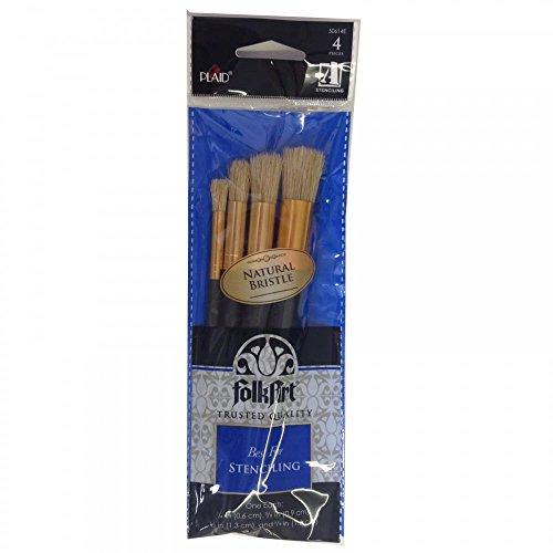 Plaid Populare Pack Di 4 Spazzole Stencil