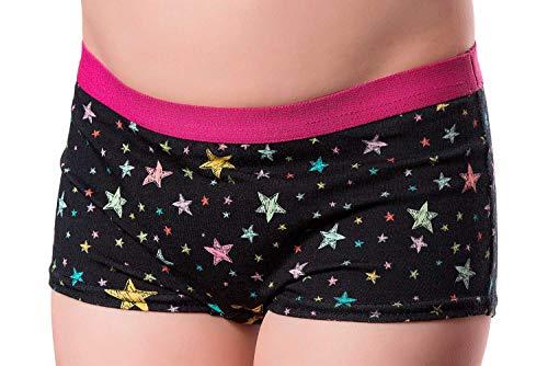 DRY & COOL Tages-Inkontinenzslip für Mädchen Unterwäsche Waschbar Absorbierende Einlage Stary Night, Schwarz, 158-164 cm (13-14 Jahre)