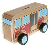 non-brand Sharplace Caja de Ahorro de Dinero Forma de Vehículos Juego de Diversión para Niños - Forma del autobús