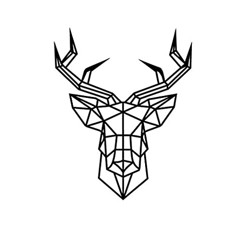 Bobury Morden géométrique géométrique chef vinyle mur autocollant bricolage animal