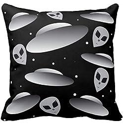 Los ovnis de espacio ultraterrestre manta funda de almohada