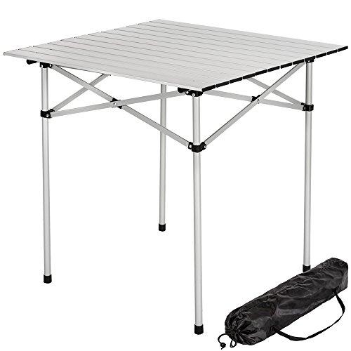TecTake® Aluminium Campingtisch Rolltisch klappbar 70x70x70cm inkl. Tragetasche
