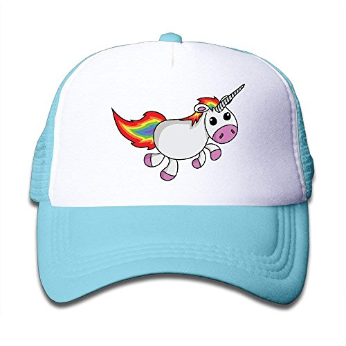 Youth Cute Unicorn Funny Adjustable Baseball Hat for Children One Size -