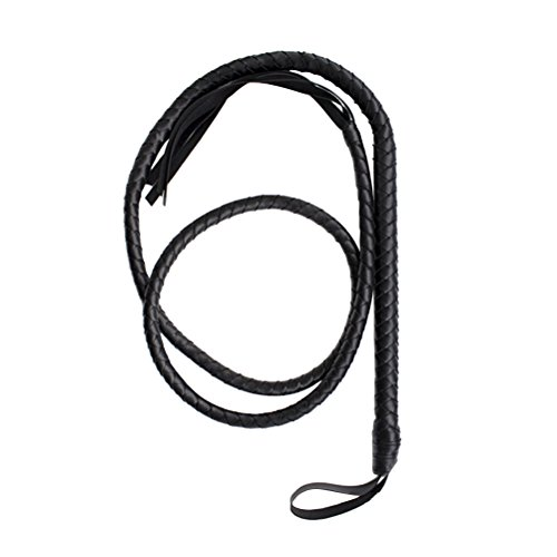 Tinksky Costumes Whip Leather Bullwhip Torero Bull Whip pour Halloween Party Party Favor 1.6m (Noir)