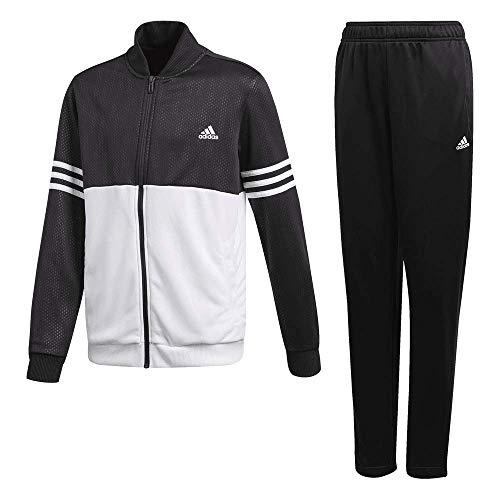 adidas Jungen Training Trainingsanzug, Black/White, 116