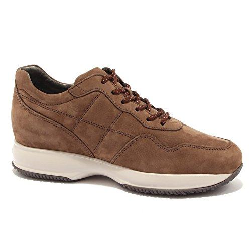 2e86d21c2f9bb Hogan 6860u Sneaker Homme Interactive H Couture Daim Marron Chaussure  Marron Marais Hommes ...