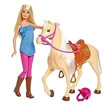 Barbie Bambola con Cavallo e Accessori, Giocattolo per Bambini 3+ Anni, FXH13