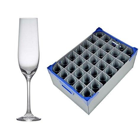 Premium Gusto Verres à champagne X 35 et boîte de rangement Verrerie (Glassjack) X1 | Traiteur de qualité de Verrerie par Genware