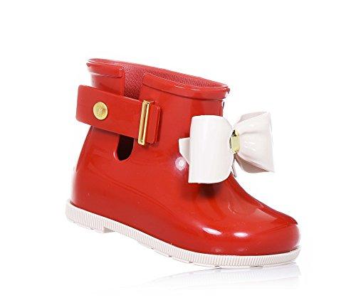 MINI MELISSA - Stivaletto rosso, Stivaletto da pioggia rosso, realizzato in plastica MELFLEX, una gomma profumata, biodegradabile ed ecologica, Bambina-19-20