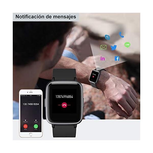 Willful Smartwatch Impermeable Reloj Inteligente con Pulsómetro, Pulsera Inteligente para Deporte con Cronómetro, Podómetro. Smartwatch Hombre Mujer Niños para Android iOS Xiaomi Huawei iPhone 6