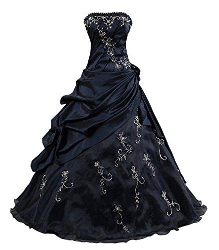 Kmformals Damen Formales Abschlussball Kleid Ballkleid Prom Kleider Größe 38 Dunkelblau