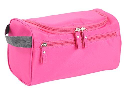 iSuperb Beauty Case Toilette Bag Grande Trousse Viaggio Borsa da Viaggio Impermeabile Toiletry Bag (Rosa)