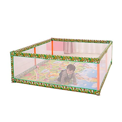 Playpens Safety Toddler, Household Indoor Toy Tents Protective Fence, with Crawling Mat, 120×190×60cm  MMDP