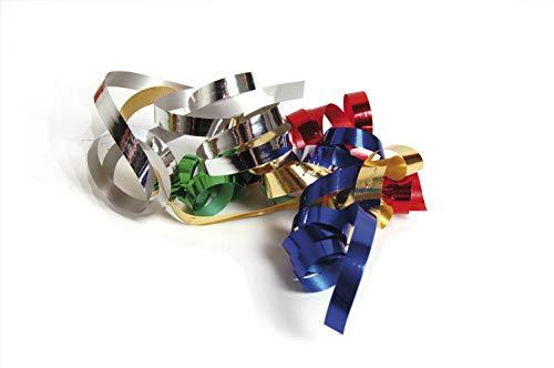 Clairefontaine 602075C Spule Geschenkband (mit Metalleffekt, 250 m x 7,5 mm, ideal für Ihre Geschenke und Bastelprojekte) 1 Stück gold