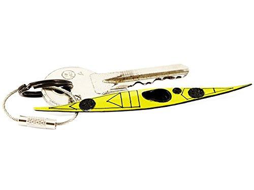 Schlüsselanhänger Kajak Sea See Touren Kanu Boot Paddeln detailgetreuer Anhänger, Farbe:gelb