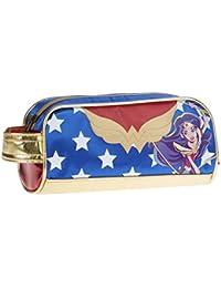 Karactermania Dc Super Hero Girls Wonder Women Estuches, 20 cm, Azul