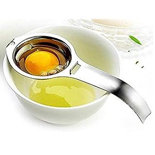 Eidyer Eiertrenner Ei Weißes Eigelb Filtertrenner, 2-Pack, 304 Edelstahl Eiersieb Küche Gadget Kochen