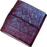 Mangalmurtihandicrafts Pocket-size Diary (Handmade Leather Mini Diary, Brown)