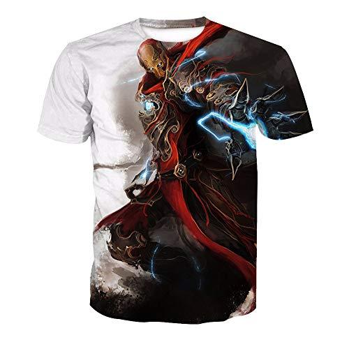 3D T-Shirt Unisex HD Gedrucktes Rundhalsausschnitt Lässig Mit Print Kurzarm Top Iron Man XL (Kostüm Paare Man Iron)