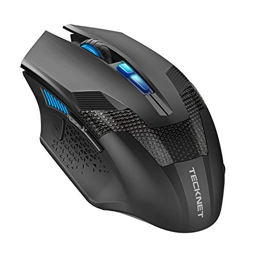 TECKNET Z4 Professional Optische programmierbare Wireless Gaming Mouse mit USB Nano Empfänger -