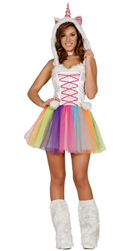Guirca- Costume da Unicorno Adulta Donna, Multicolore, Talla 38-40, 84538
