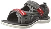 Clarks Boys�?? Piranhaboy Inf Sling Back Sandals, Grey (Grey Synthetic), 12 UK