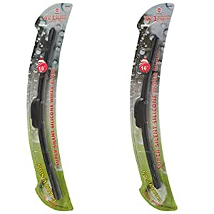 """World Wide silicone GL0021 Combo Pack of Front Wiper Blades For Alto (Set Of 2, 18"""" and 16"""")"""