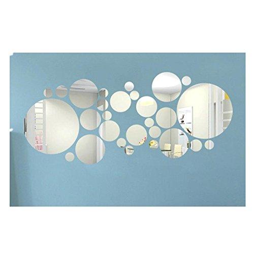 Tefamore pegatina de pared Espejo de acrílico redonda Decoración de pared de...