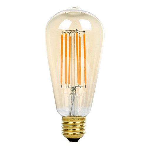ST64 8W LED Bombilla de Filamento, Bulbo Dorado , E27 Base, NATIONALMA