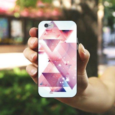 Apple iPhone X Silikon Hülle Case Schutzhülle Dreiecke Galaxie Muster Silikon Case schwarz / weiß