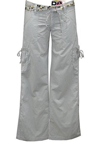 """'Roxy """"Stun Gun Pantaloni con cintura a paillette Tela XS/S/M/L nove grigio X-Small"""