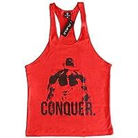 Rojo conquista Singlet | camiseta de tirantes | Stringer, Camiseta Culturismo |y-back espalda cruzada, extra-large