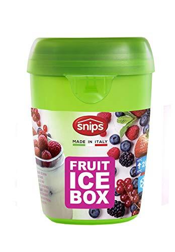 Snips 000451 Fruit Ice-Contenitore per Frutta con Ghiaccio, Verde, 0.5 Litri