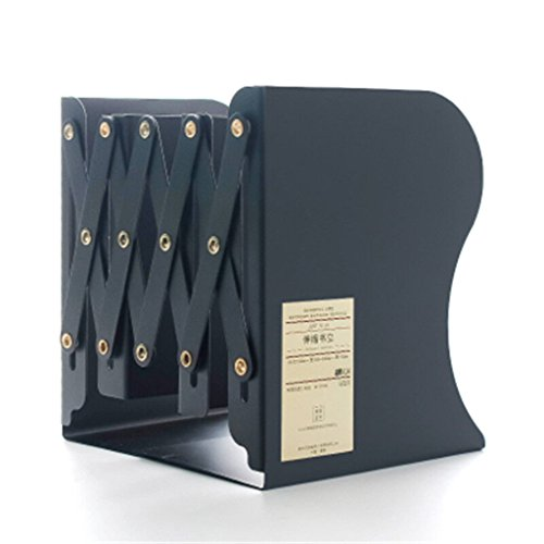 Buchstand 15 * 19 * 10,5 / 43cm Bücherregal Student einstellbar schwarz weiß ( Farbe : Schwarz ) (Schwarz Einstellbare Bücherregal Schrank)