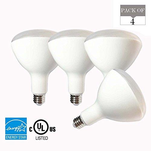 4er Pack BR40LED Flutlicht Leuchtmittel, 15W (entspricht 120W Glühbirne), E27Sockel, 90V-265V, K (Tageslicht Glow), 1500lm, cri90+, ul-listed und Energy Star Genehmigt Led-br40