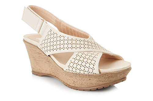 Piccadilly 556039confortable Wedge Sandal Beige