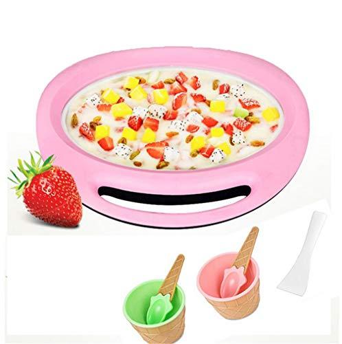 ELEGENCE-Z Mini Gebratene Eismaschine , Sommer Eismaschine Mini Nette DIY Gebratene Eiswanne Eisform Set EIS am Stiel Formen Wiederverwendbare Haushalts Pop (Rosa)