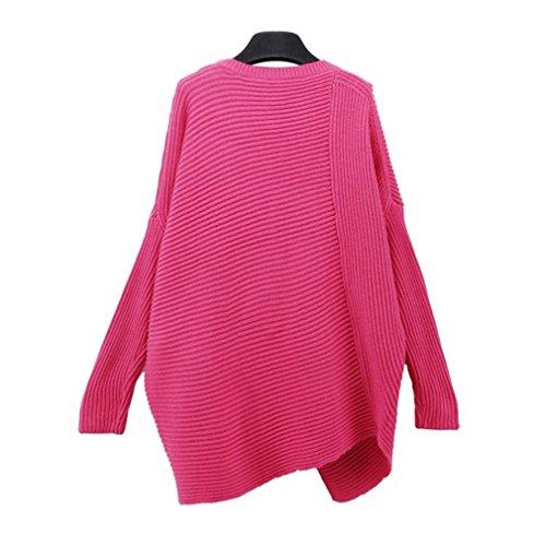 Honghu Poncho für Femme Modischer All-Rounder für Frauen als Alternative zu einem Strickwaren Pulli Strick-Pullover Cardigan Cape oder Strick-Jacke Rose