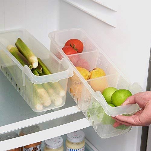 Dayalu Storage Basket Plastic Space Saving Box Rack Shelf Food Fruits Vegetables Organizer for Home Kitchen Fridge (Transparent, Standard)