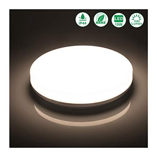 Öuesen LED Deckenlampe Badezimmer 18W Neutralweiß LED Deckenleuchte IP44 Badezimmerlampe Wasserfest Deckenleuchte für Flur Badezimmer Küche Wohnzimmer Bad Schlafzimmer Balkon usw, 4000K,1650LM