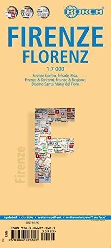 Florencia, plano callejero plastificado. Escala 1:7.000. Borch. por VV.AA.