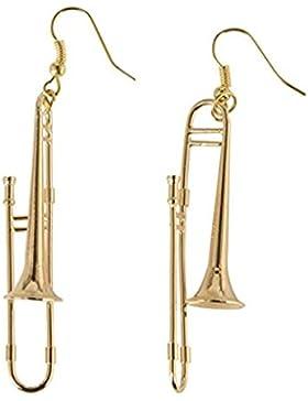 Posaunen Ohrringe Posaune Miniblings Posaunist Orchester Jazz vergoldet mit Box