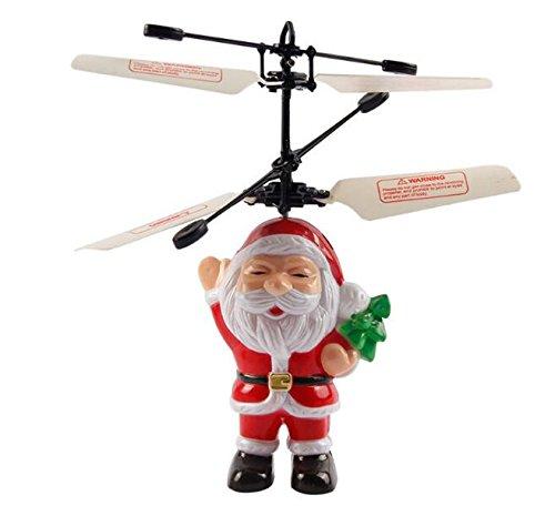 EEvER Gute Verzierungsdekorationen zur Party Santa Flying Toy, kreative Weihnachten Weihnachtsmann Hand Suspension Induktion Hubschrauber fliegen Spielzeug für Kinder Kinder Geschenk