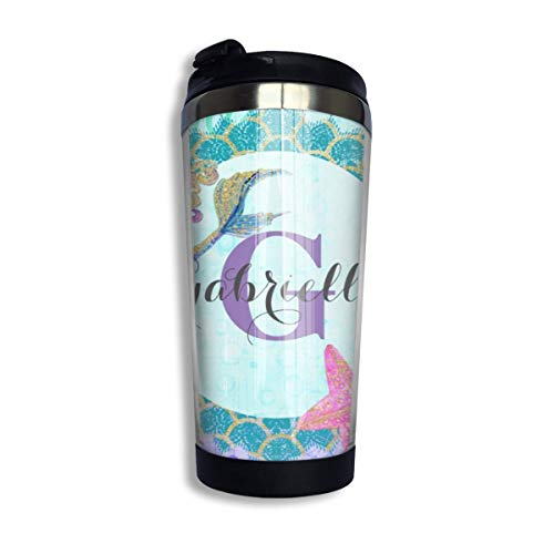 Stainless Steel Coffee Mugs Mermaid Travel Coffee Thermal Mug 10 Oz (400ml) Insulated Cup Perfect for Travel, Camping, Hiking, The Beach and Sports -