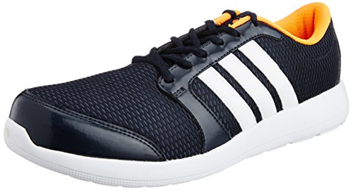 Adidas Men's Altros M Night Navy, White and Zest Mesh Running Shoes - 8 UK