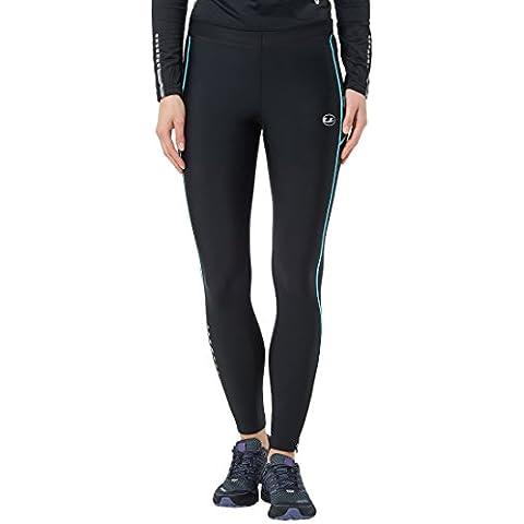 Ultrasport 10292 - Pantalones largos para mujer, color negro / turquesa, talla M