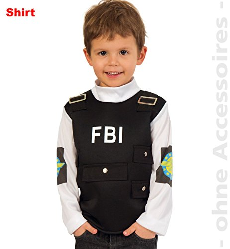 Kinder Kostüm FBI Weste Polizist Agent Karneval Fasching ()