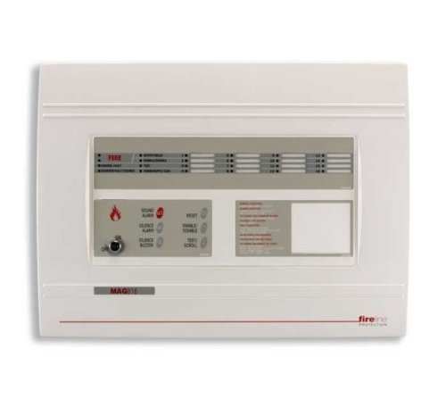 FA5 - FIRELINE MAG816 8 ZONE ALARM (erweiterbar TO 16) FIRE CONTROL PANEL 24 V 16 Zone Control Panel