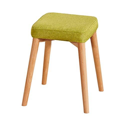 FEI Confortable Tabouret de bar petit déjeuner 45cm haut | Siège de cuisine en bois approprié pour des tables de barre de petit déjeuner Solide et durable (Couleur : Vert)