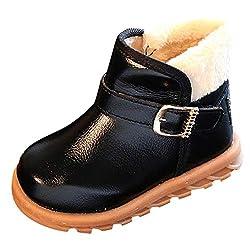 Sannysis Winter Warm Stiefel Jungen Mädchen Winter Leder Schneestiefel Warme weiche Winterschuhe Boots für Kinder Baby